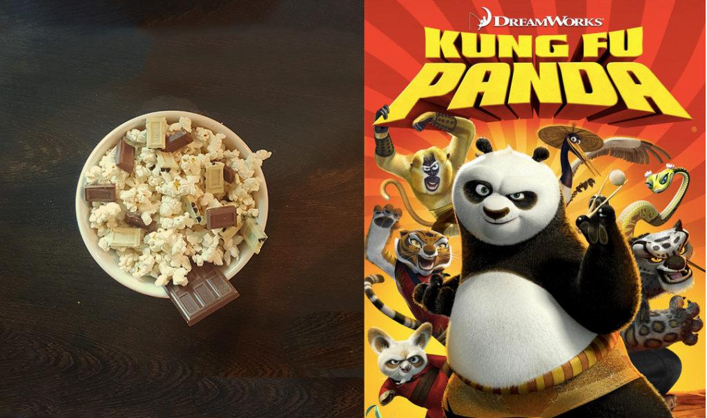 Popcorn +Kung Fu Panda