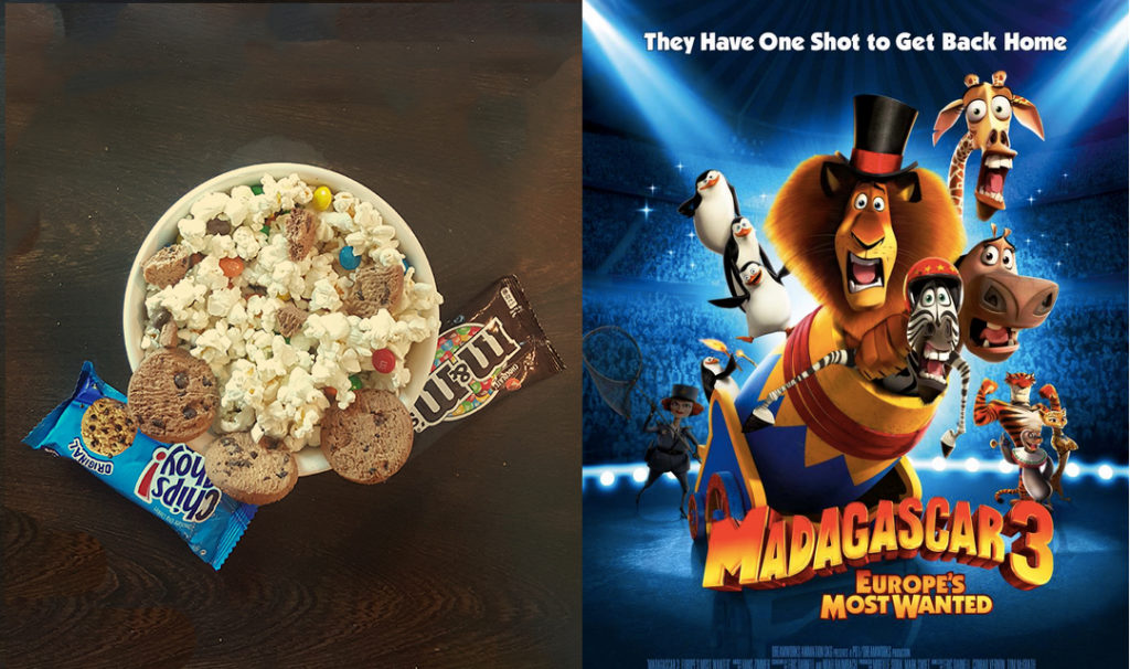 Popcorn + Madgascar 3