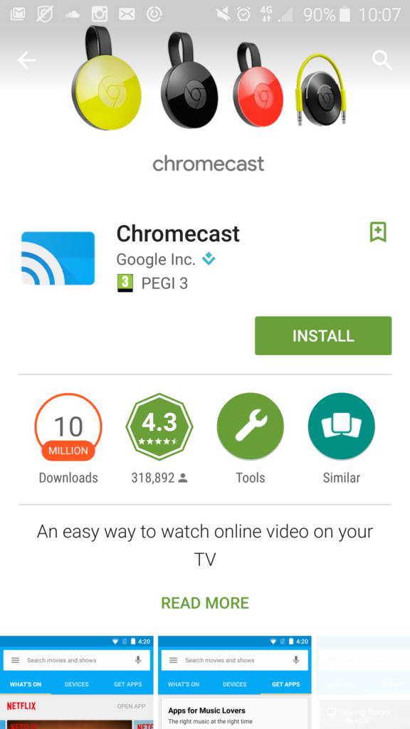 Chromecast play store screenshot