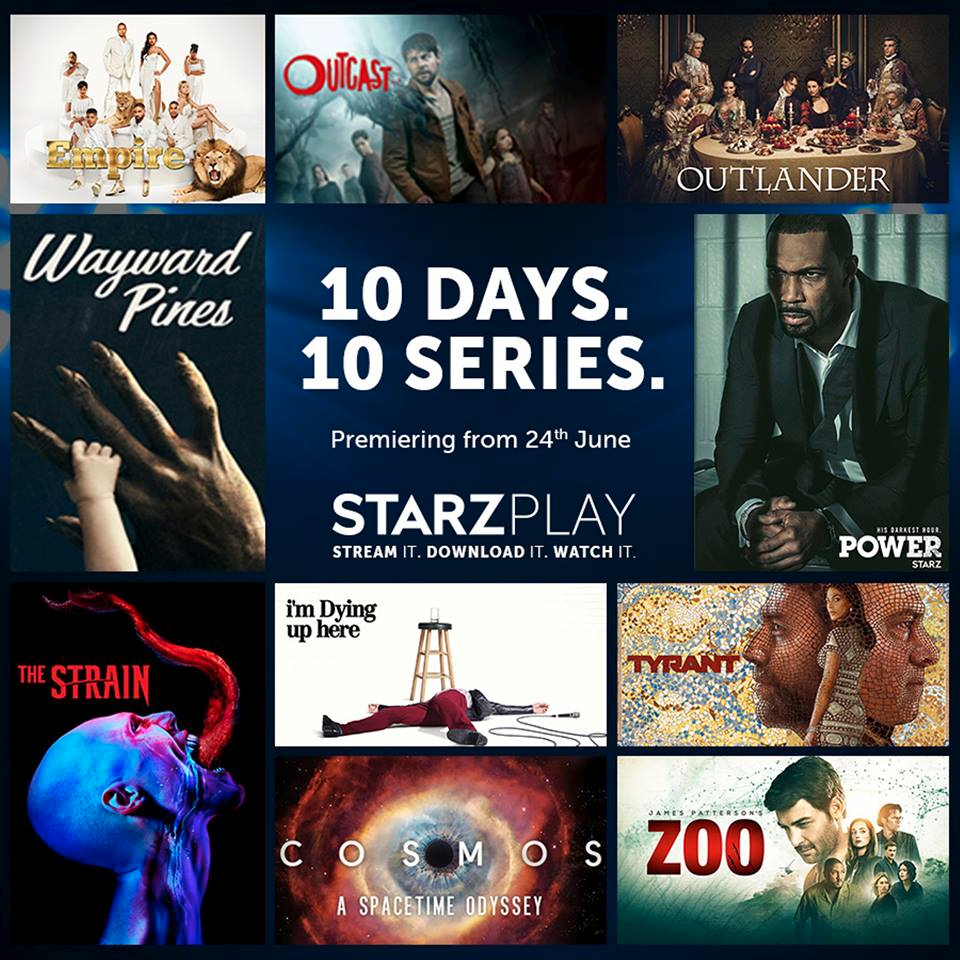 10 Days. 10 Series. New shows everyday on STARZPLAY