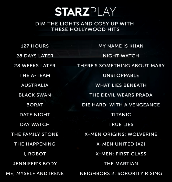 What To Watch In August on STARZPLAY